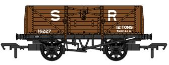 SECR 1355 7 plank Open Wagon - SR brown (pre-1936) #16227