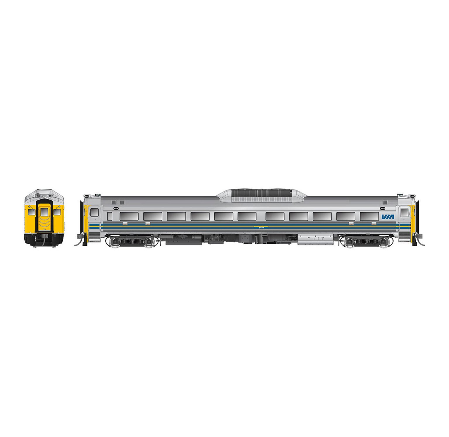 BUDD RDC-1 VIA Rail (Early) Phase 1c Rebuilt (Unnumbered) DC/DCC/SOUND