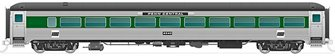 New Haven 8600-Series Coach: Penn Central (Without Skirts) #2549