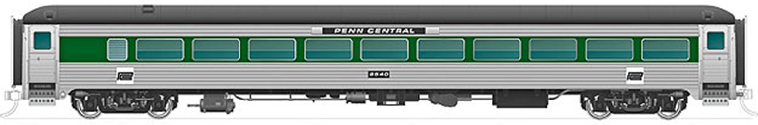 New Haven 8600-Series Coach: Penn Central (Without Skirts) Unnumbered