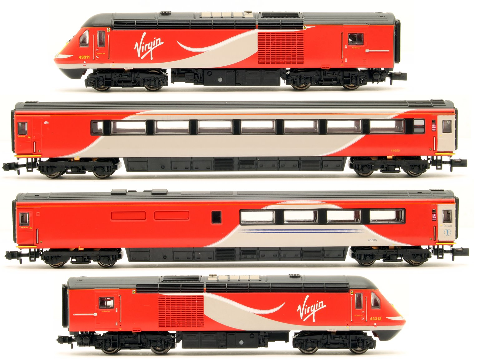 Class 43 HST Virgin East Coast 43311/312 4 Car Set
