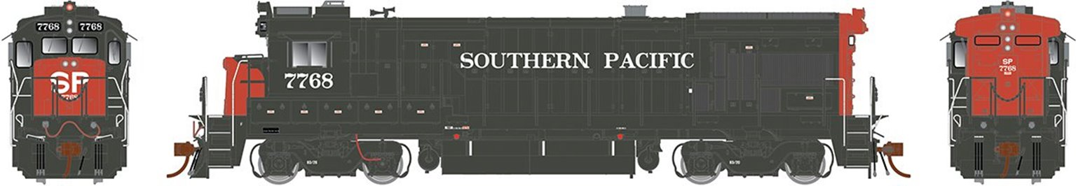 GE B36-7 Locomotive Southern Pacific - 7756 (dual K5 horn) - DCC Sound