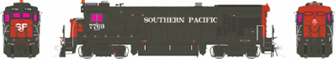 HO scale B36-7 : Southern Pacific: #7769  DCC SOUND