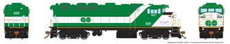 HO Scale F59PH - GO Transit (delivery) #528