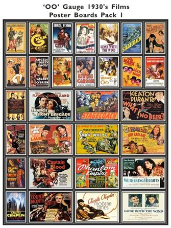 1930's Film Poster Boards Pack 1