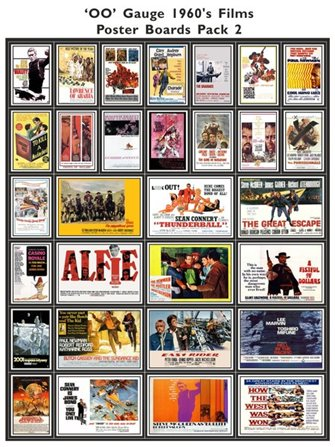 1960's Film Poster Boards Pack 2