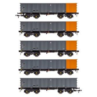 PTA/JTA+JUA Bogie Tippler Pack - British Steel Grey & Orange (Outer)