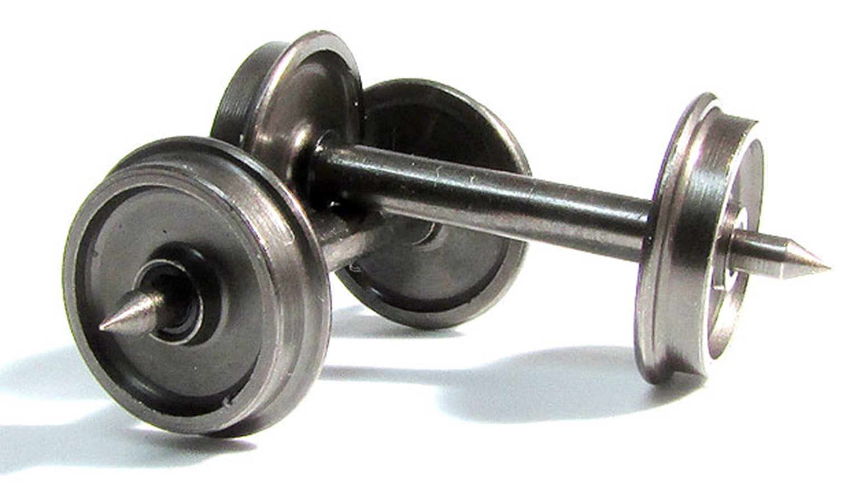 N scale 36″ wheelset (13.72mm axle) 50-pack