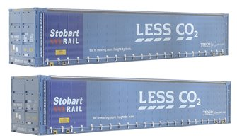 "Dapol 4F-028-006 Pack of two 45' containers ""Stobart - Less CO2"" - weathered"