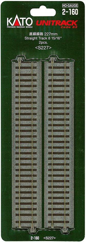 Unitrack (S227) Straight Track 227mm 2pcs