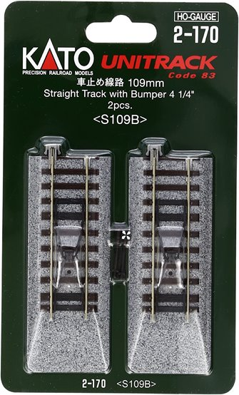 Kato 2-170  Buffer Stop on 109mm Straight Track (2)