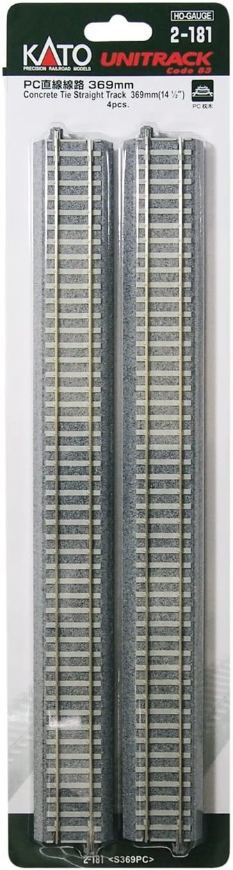 Unitrack (S369PC) CS Straight Track 369mm 4pcs