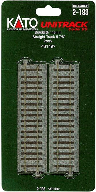 Kato 2-193  Ground Level 149mm Straight Track (2)