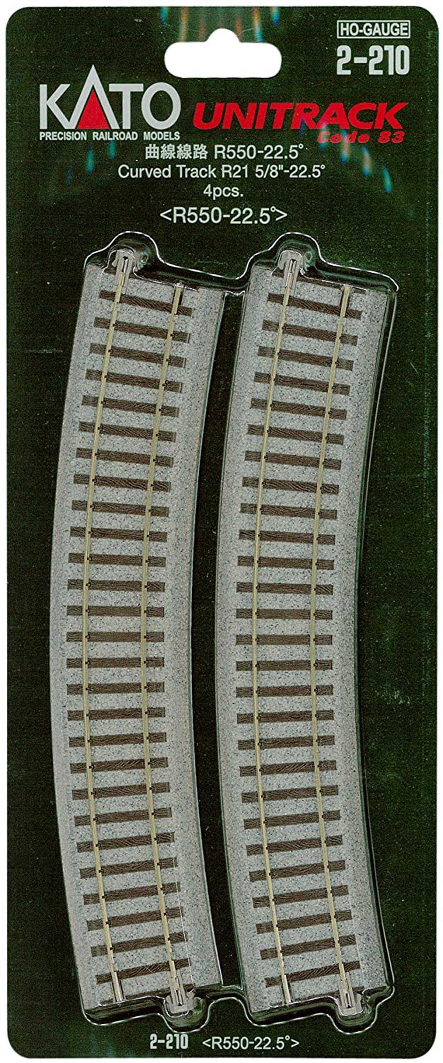 Kato 2-210  Curved Track Radius 550mm 22.5 Deg.(4)