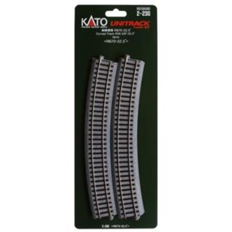 Kato 2-230 Curved Track Radius 670mm 22.5 Deg.(4)