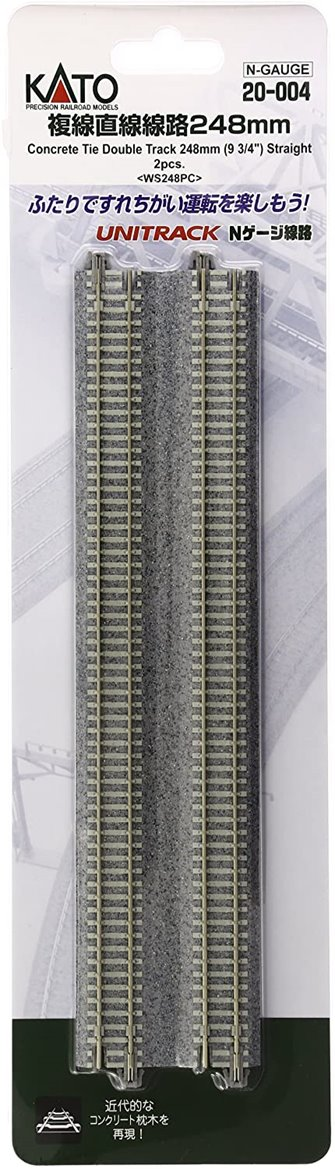 Kato 20-004 Concrete Sleeper Double 248mm Straight Track (2)