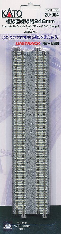 Kato 20-004 Concrete Sleeper Double 248mm Straight Track (2)