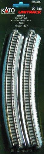 Kato 20-140 Ground Level Radius 381mm Curved Track 30 Deg.(4)