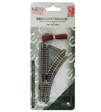 Kato 20-241 Compact Right Hand Electric Turnout R150mm 45 Degree