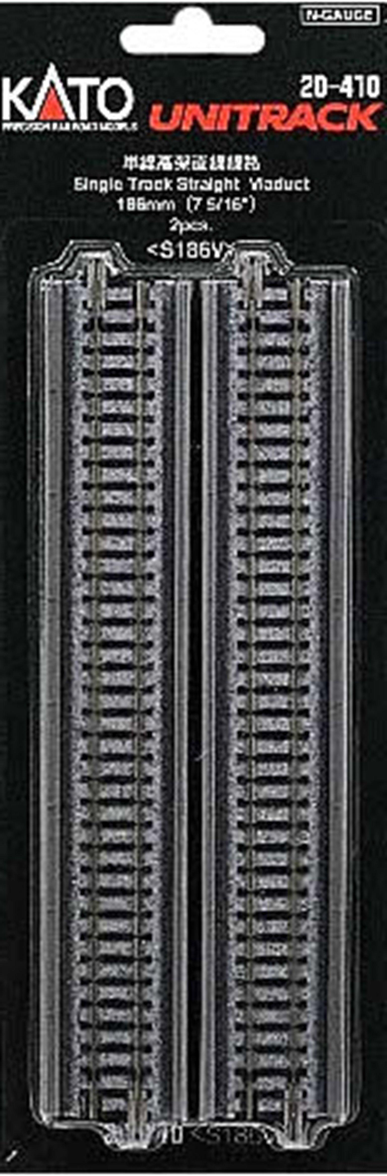 Kato 20-410 Single Straight Viaduct Track 186mm (2)