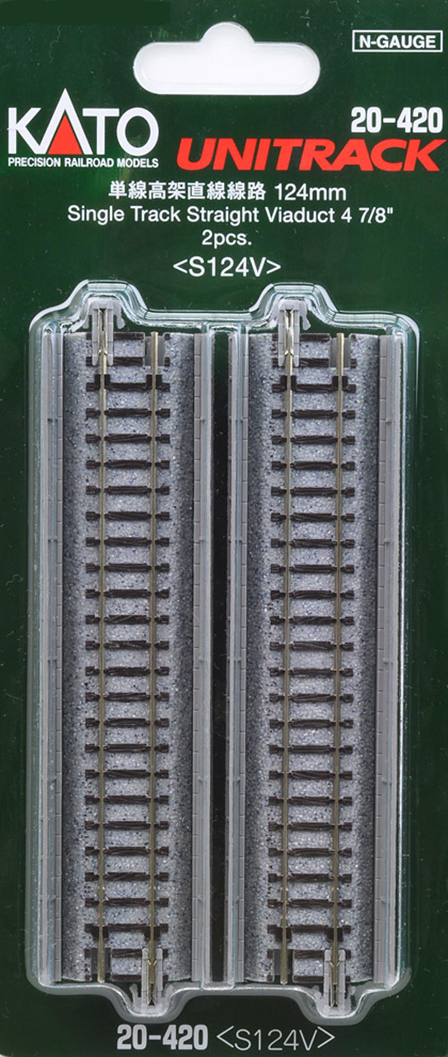 Kato 20-420 Single Straight Viaduct Track 124mm (2)