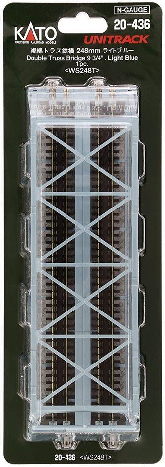 Kato 20-436 Double Track Truss Girder Bridge 248mm Light Blue