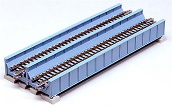 Kato 20-455 Double Track Plate Bridge 186mm Light Blue