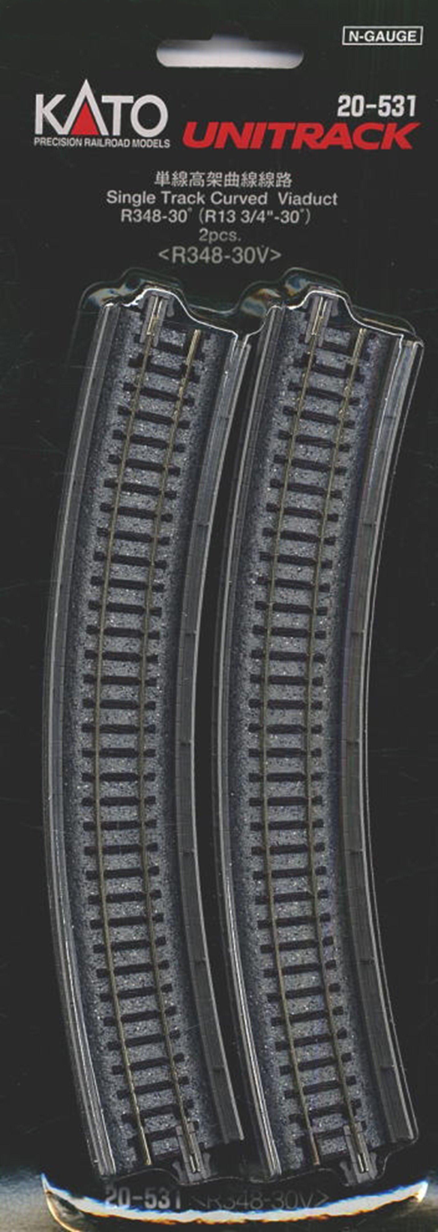 Kato 20-531 Single Track Curved Viaduct Radius 348mm 30 Deg.(2)