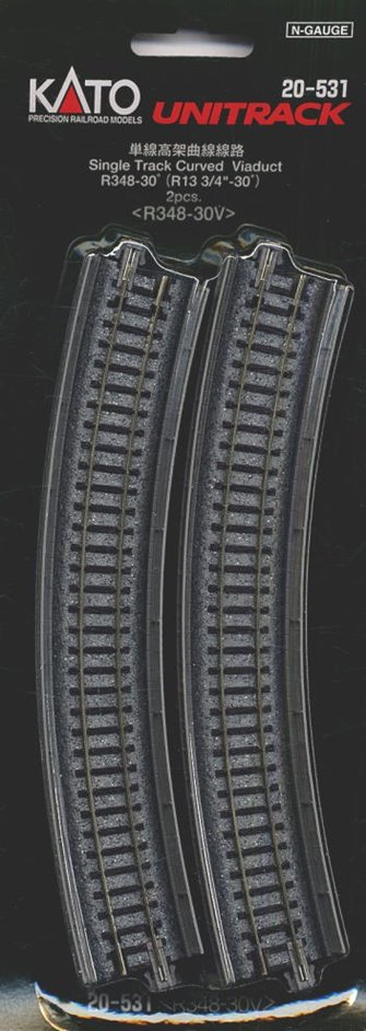 Kato 20-531 Single Track Curved Viaduct Radius 348mm 30 Deg.(2)