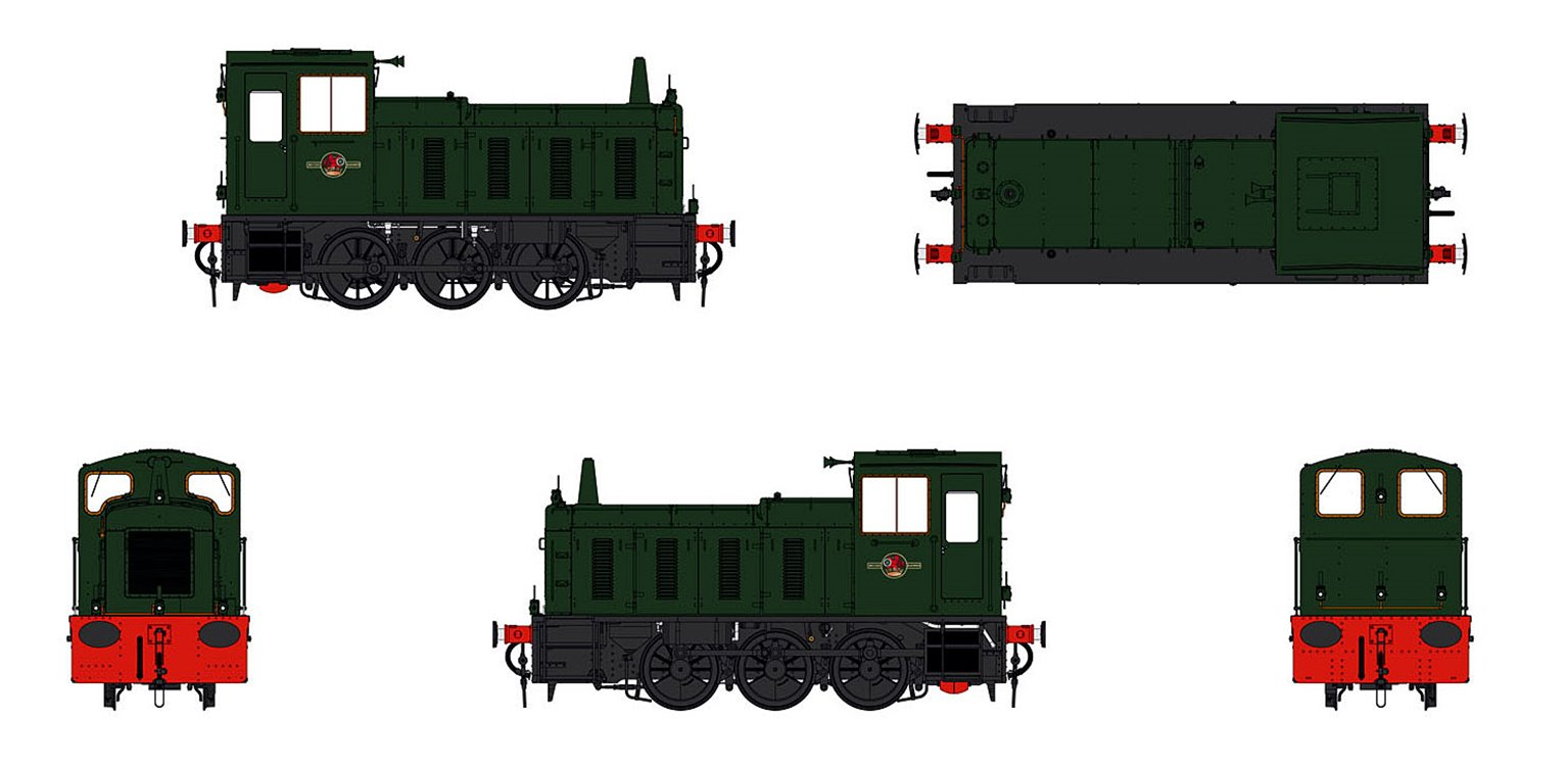Class 03 (un-numbered) BR Green Diesel Shunter (Conical Exhaust)