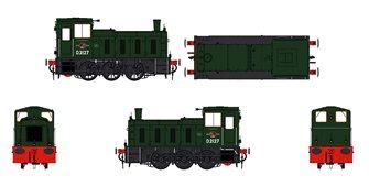 Class 03 D2127 BR Green Diesel Shunter (Flowerpot Exhaust)