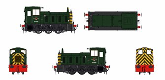 Class 03 - D2028 BR Green with Wasp Stripes Diesel Shunter (Conical Exhaust)