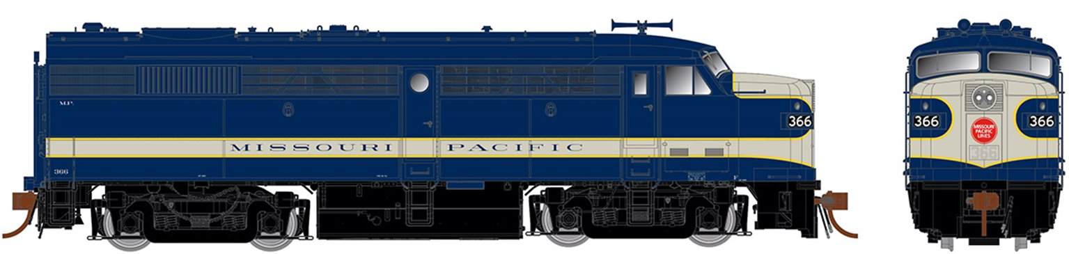Alco FPA-2 Missouri Pacific (Delivery) Ph II, no-DB	#366