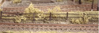 Lineside Fencing, wood brown