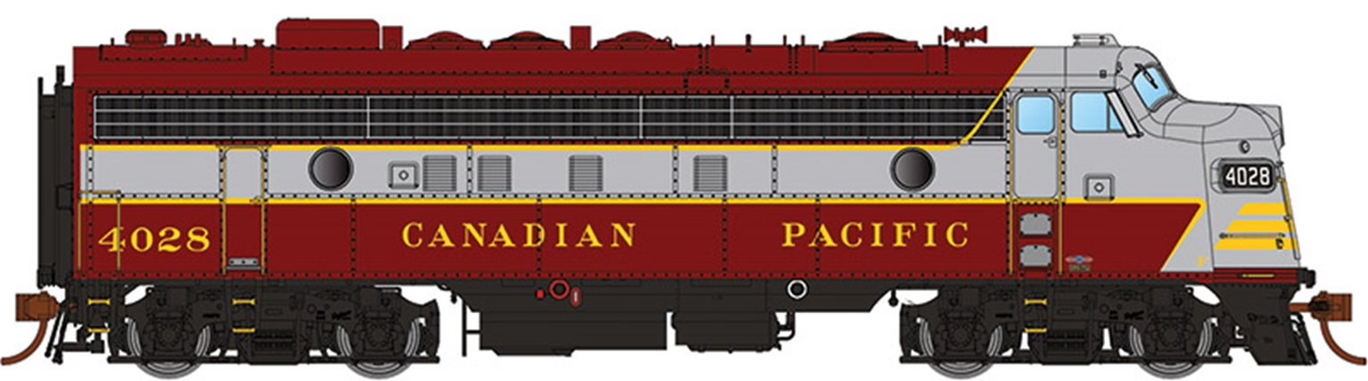 GMD FP7 Locomotive - Canadian Pacific (Block Lettering) #1400 - DCC Sound