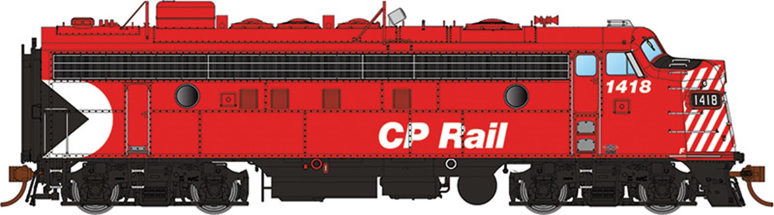 "GMD FP7 Locomotive - CP Rail Action (5"" Stripes) #1418 - DCC Silent"