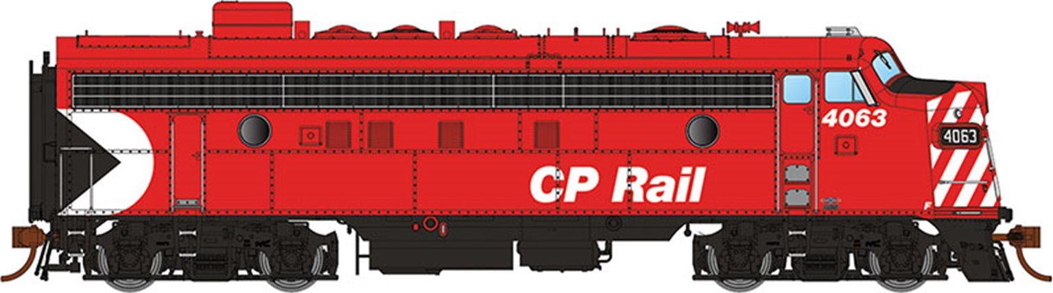 "GMD FP7 Locomotive - CP Rail Action (8"" Stripes) #1424 - DCC Silent"
