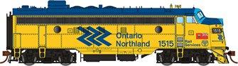 GMD FP7 Locomotive - Ontario Northland (Chevron) #1508- DCC Silent