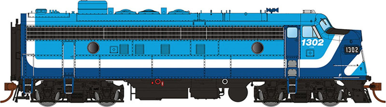 GMD FP7 Locomotive - Montreal Commuter Early #1303 - DCC Silent