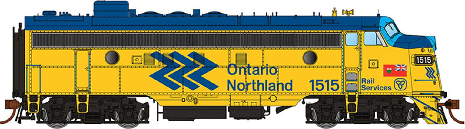 GMD FP7 Locomotive - Ontario Northland (Chevron) #1502 - DCC Sound