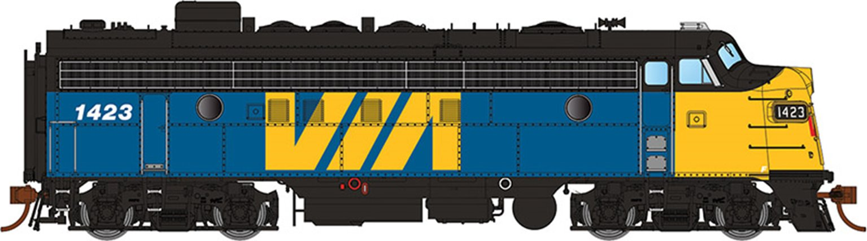 GMD FP7 Locomotive - VIA Rail Canada #1423 - DCC Sound