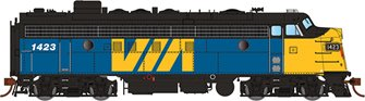GMD FP7 Locomotive - VIA Rail Canada #1423 - DCC Sound