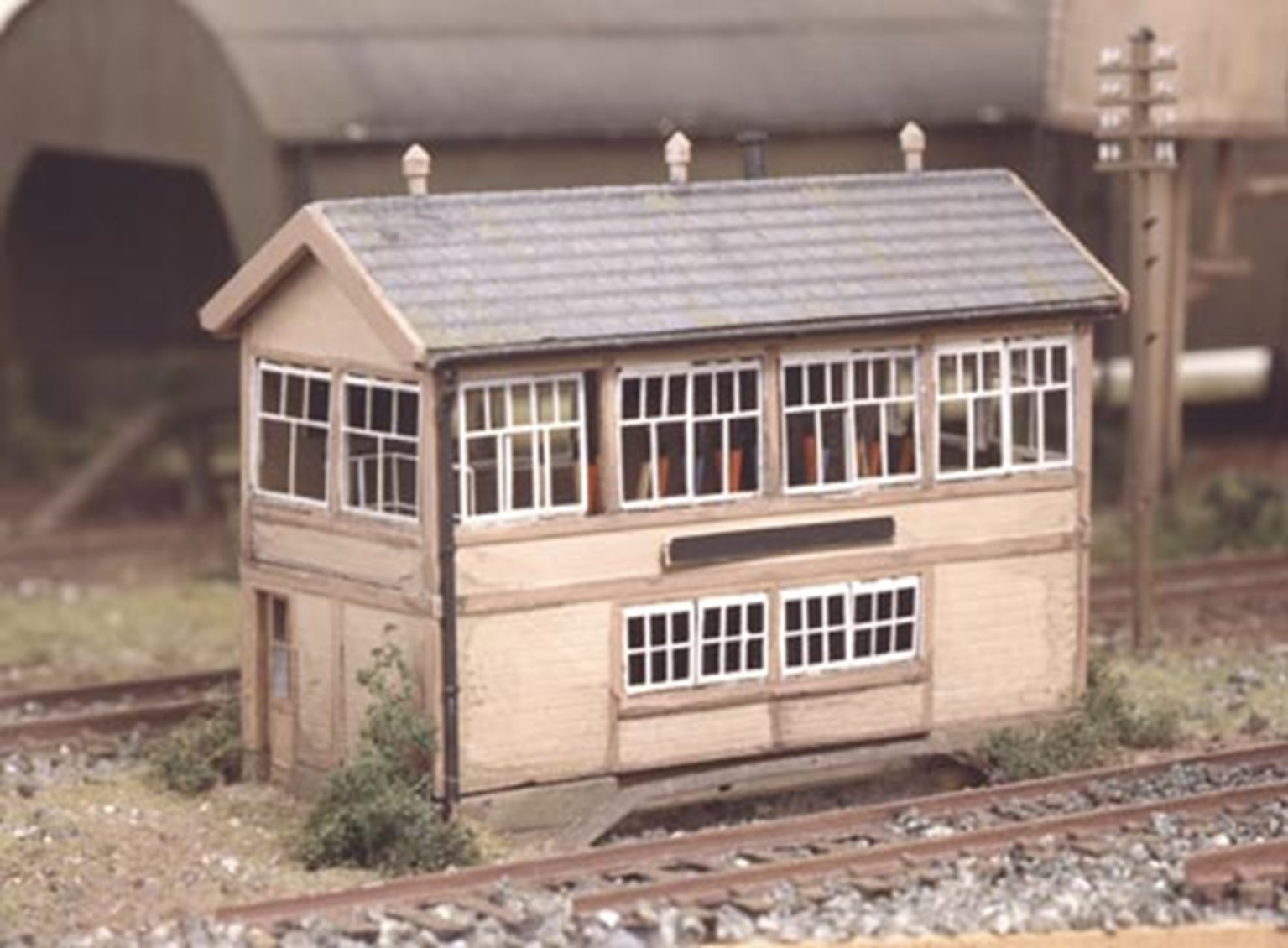 GWR Wooden Signal Box (inc.interior)