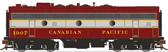 GMD F7B Locomotive - Canadian Pacific (Block Lettering) #1907 - DCC Silent