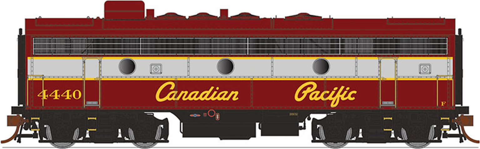 GMD F7B Locomotive - Canadian Pacific (Script Lettering) #4440 - DCC Silent