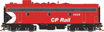 GMD F7B Locomotive - CP Rail (5″ Stripes) #4442 - DCC Silent
