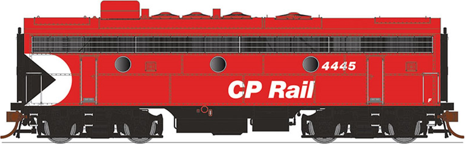 GMD F9B Locomotive - CP Rail (8″ Stripes) #4475 - DCC Silent