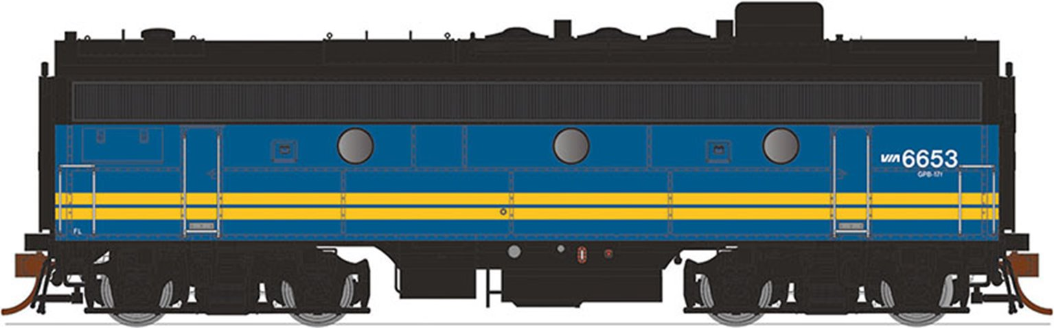 GMD F9B Locomotive - VIA Rail Canada #6618 (ex CN) - DCC Sound