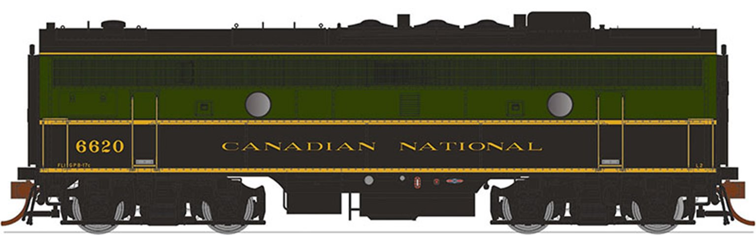 GMD F9B Locomotive -Canadian National (Delivery) #6620 (1954) - DCC Silent