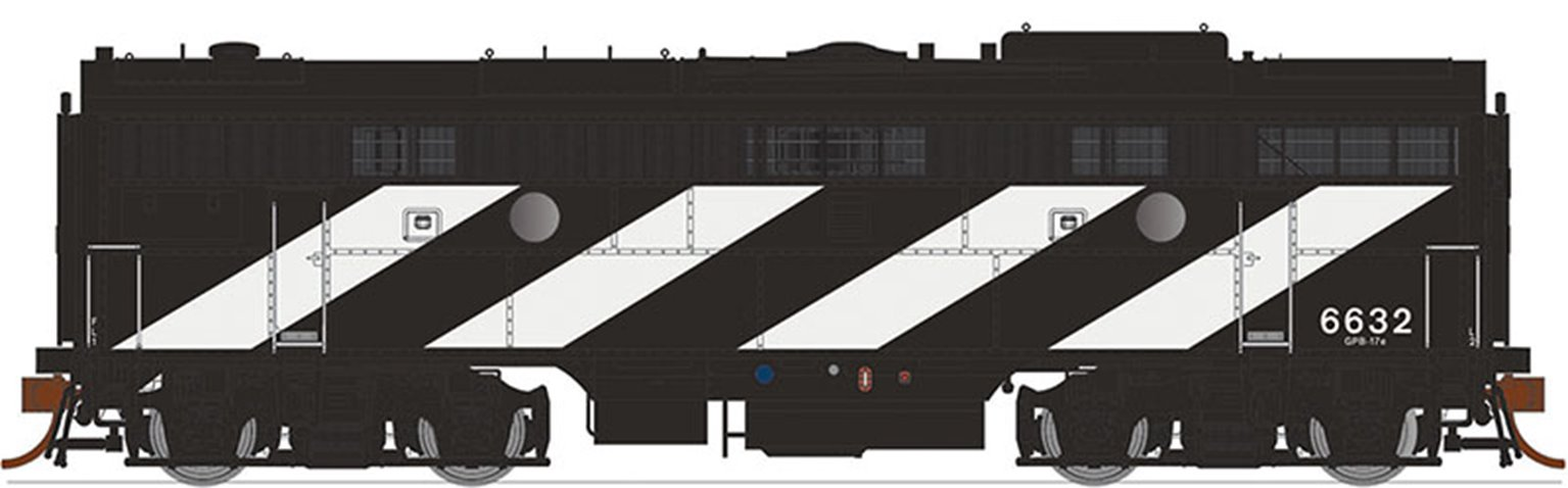 GMD F9B Locomotive - Canadian National (Noodle) #6621 (1961) - DCC Sound